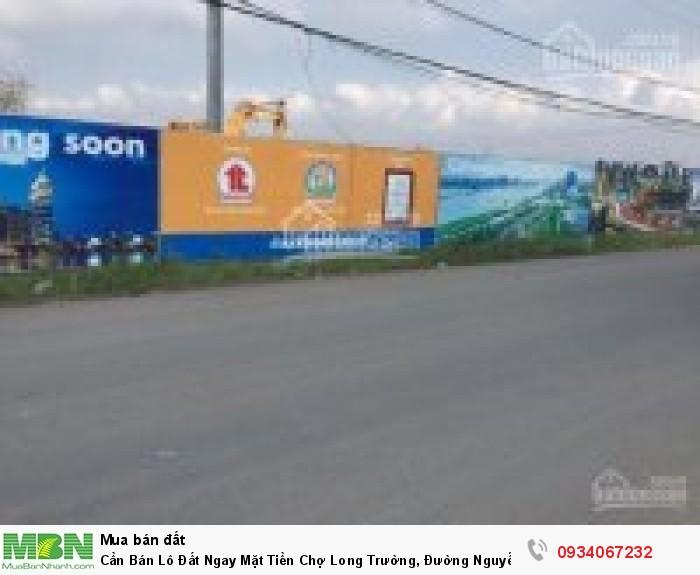 Cần Bán Lô Đất Ngay Mặt Tiền Chợ Long Trường, Đường Nguyễn Duy Trinh