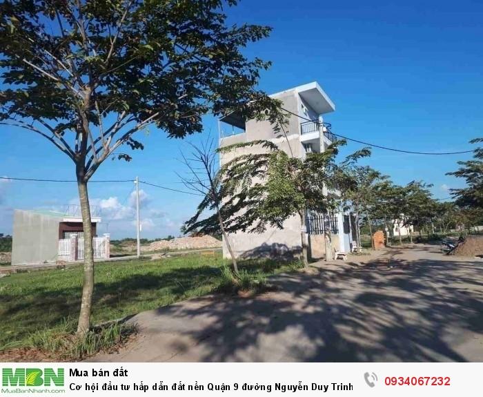 Cơ hội đầu tư hấp dẫn đất nền Quận 9 đường Nguyễn Duy Trinh