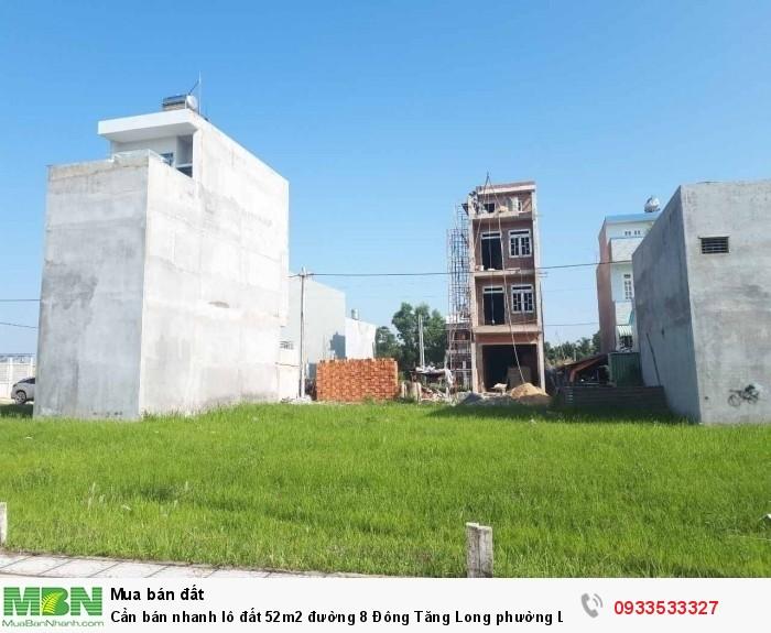 Cần bán nhanh lô đất 52m2 đường 8 Đông Tăng Long phường Long Phước