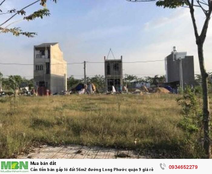 Cần tiền bán gấp lô đất 56m2 đường Long Phước quận 9 giá rẻ