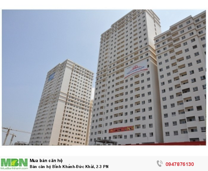 Bán căn hộ Bình Khánh-Đức Khải, 2-3 PN