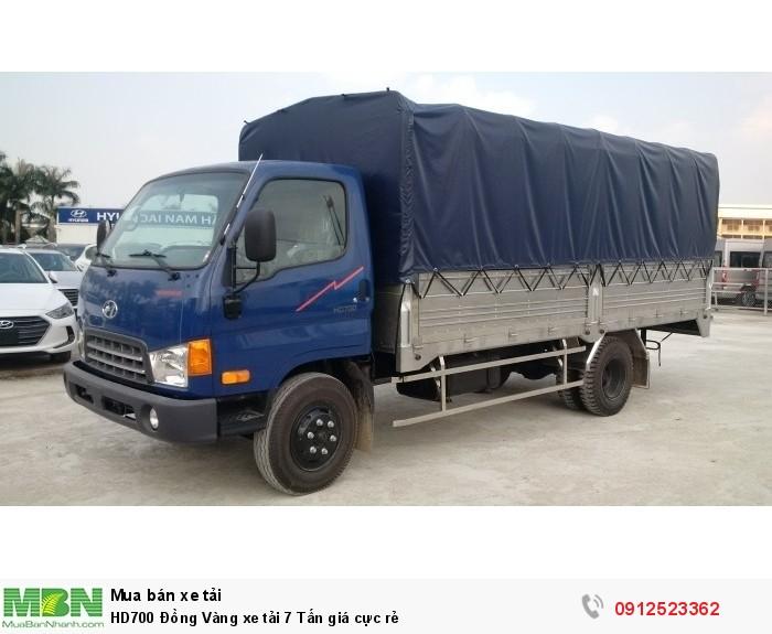 HD700 Đồng Vàng xe tải 7 Tấn giá cực rẻ