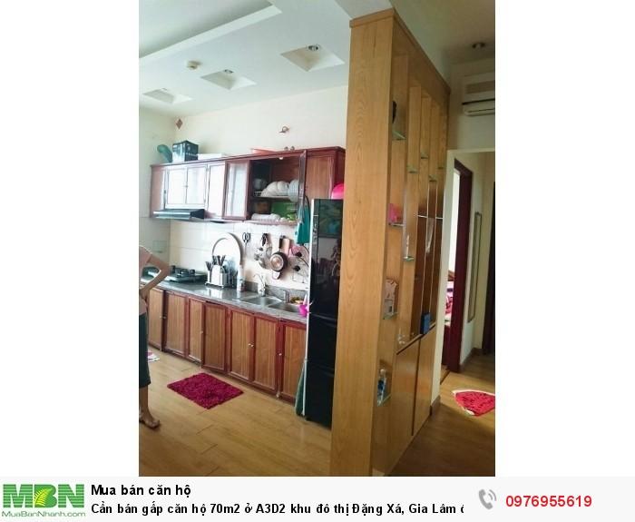 Cần bán gấp căn hộ 70m2 ở A3D2 khu đô thị Đặng Xá, Gia Lâm đã có sổ.