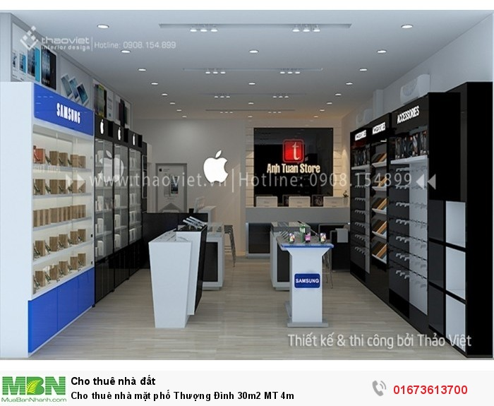 Cho thuê nhà mặt phố Thượng Đình 30m2  MT 4m