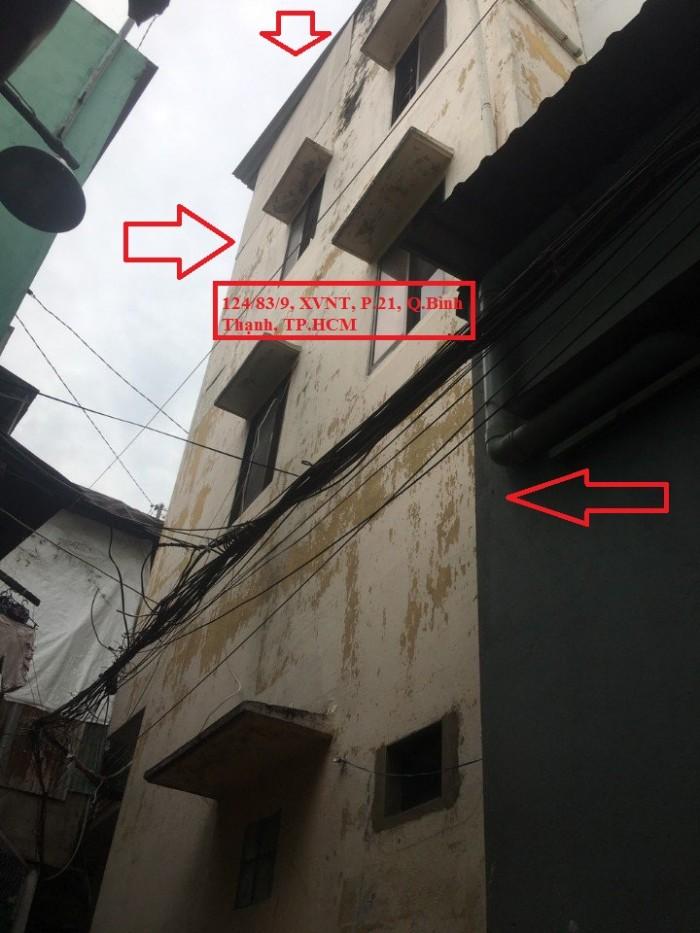 Nhà sổ hồng riêng, 1 trệt 3 lầu giá rẻ tại trung tâm Bình Thạnh