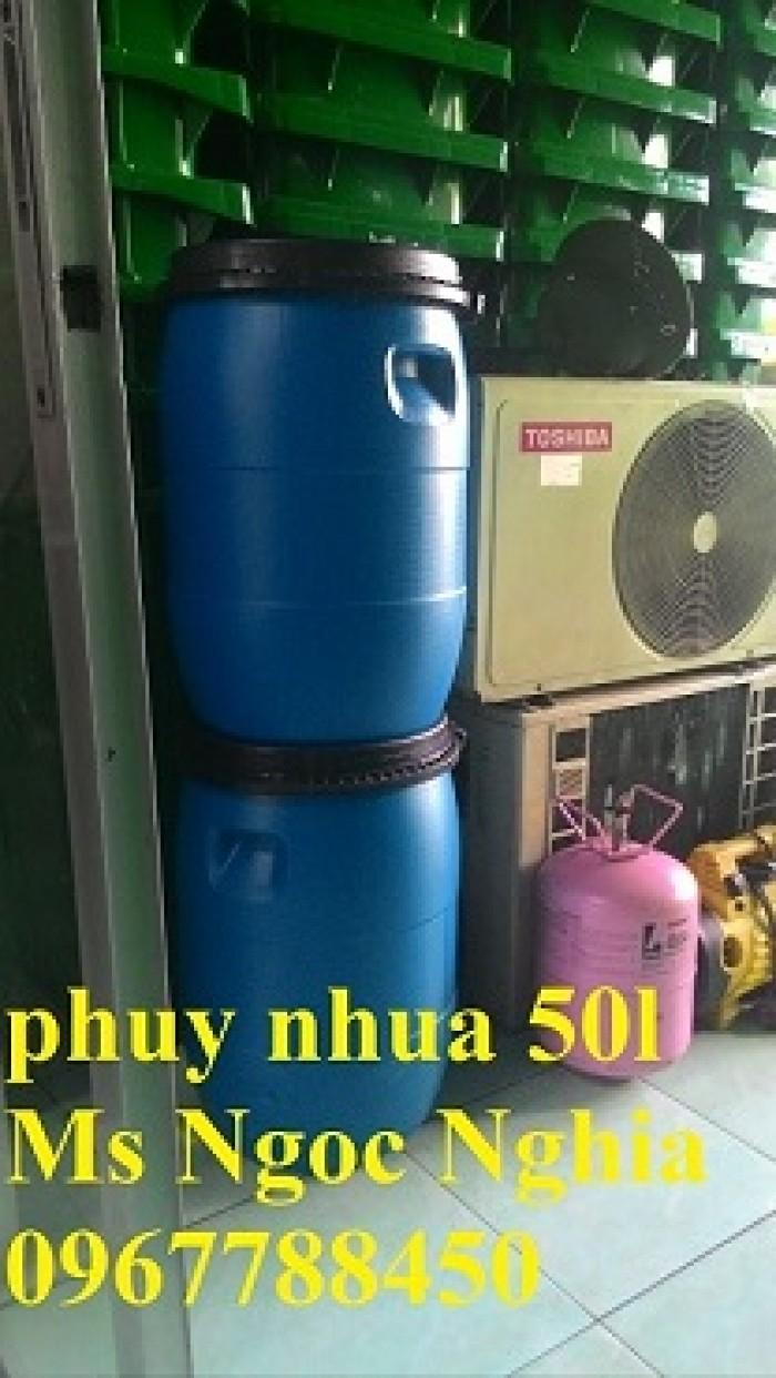 Bán thùng phuy nhựa-thùng đựng hóa chất 50l.