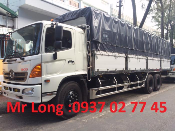 xe tải HINO FL thùng ngắn , xe HINO 3 chân thùng mui bạt , xe tải HINO 15 tấn đóng thùng mui bạt bửng nhôm , xe HINO FL8JTSA mui bạt bửng nhôm , giảm giá xe HINO 15 tấn 0