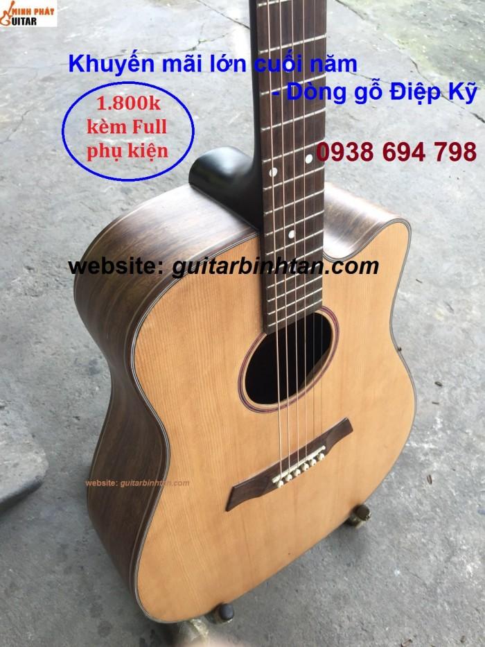 Khuyến mãi Guitar acoustic GỖ ĐIỆP KỸ giảm giá chỉ còn 1,800,000 VND2