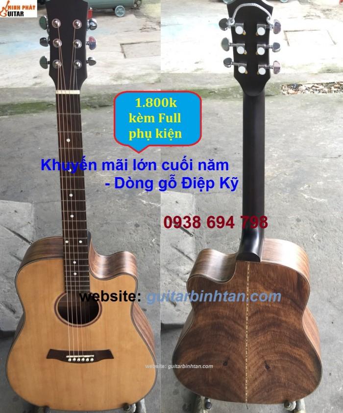 Khuyến mãi Guitar acoustic GỖ ĐIỆP KỸ3