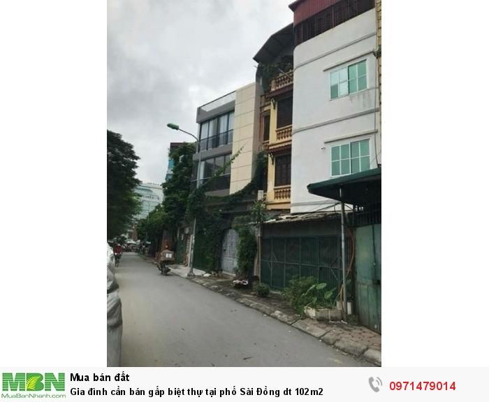 Gia đình cần bán gấp biệt thự tại phố Sài Đồng dt 102m2