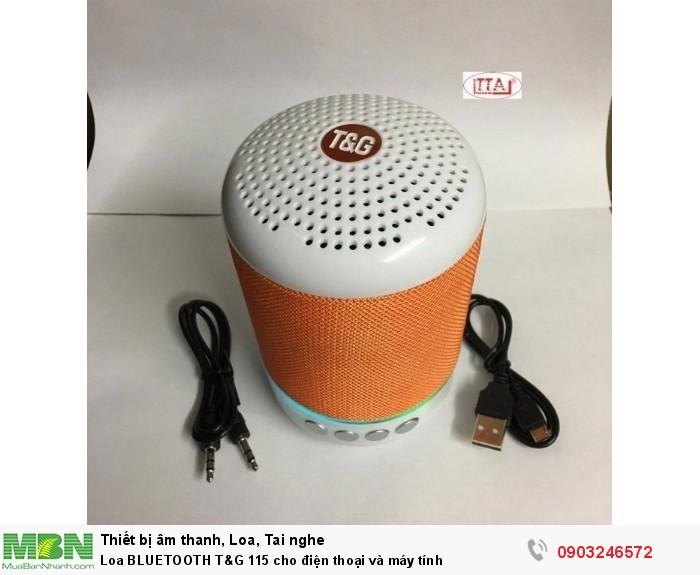 Loa BLUETOOTH  T&G 115 cho điện thoại và máy tính