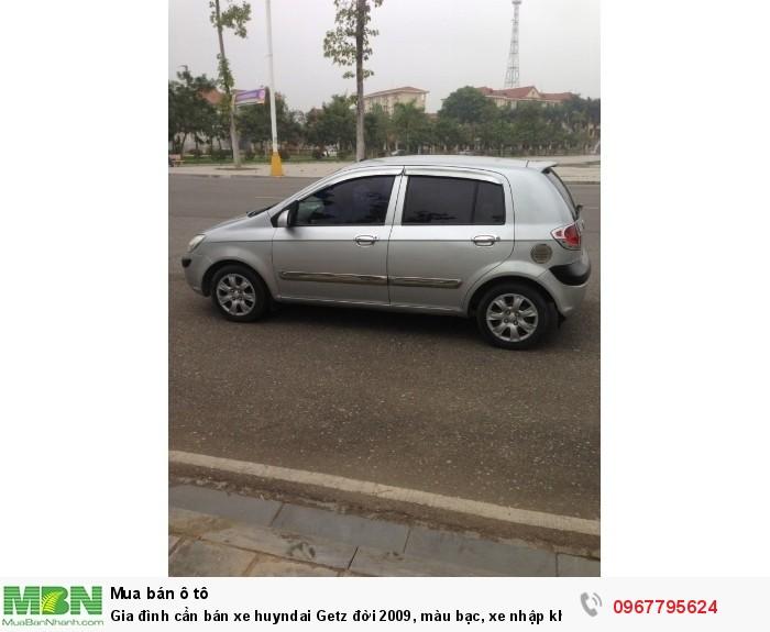 Gia đình cần bán xe Hyundai Getz đời 2009, màu bạc, xe nhập khẩu Hàn Quốc 1