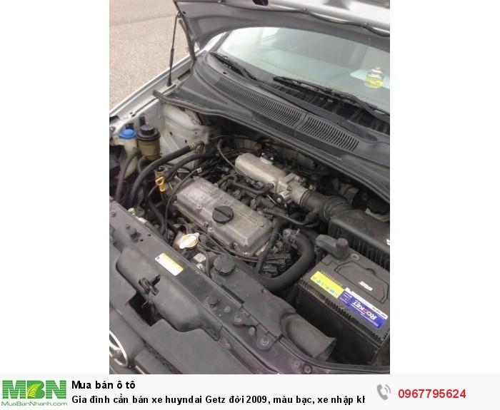 Gia đình cần bán xe Hyundai Getz đời 2009, màu bạc, xe nhập khẩu Hàn Quốc 4