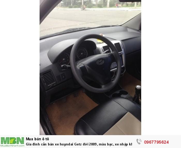 Gia đình cần bán xe Hyundai Getz đời 2009, màu bạc, xe nhập khẩu Hàn Quốc 5