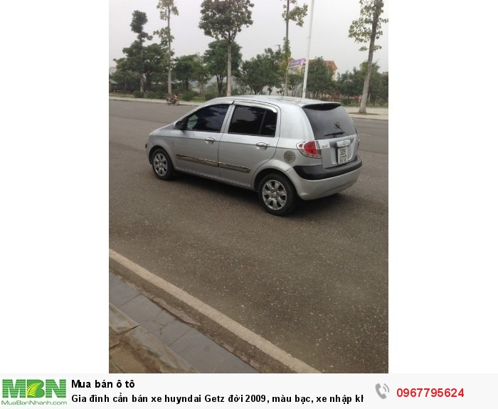 Gia đình cần bán xe Hyundai Getz đời 2009, màu bạc, xe nhập khẩu Hàn Quốc 6