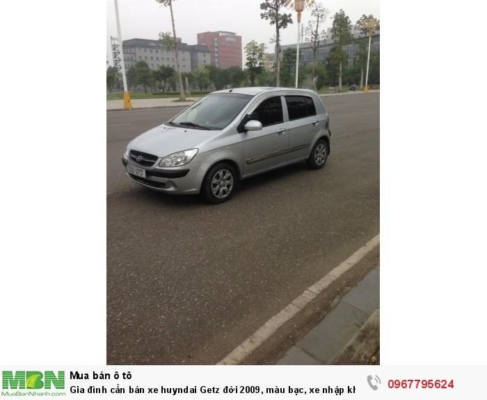Gia đình cần bán xe Hyundai Getz đời 2009, màu bạc, xe nhập khẩu Hàn Quốc 8