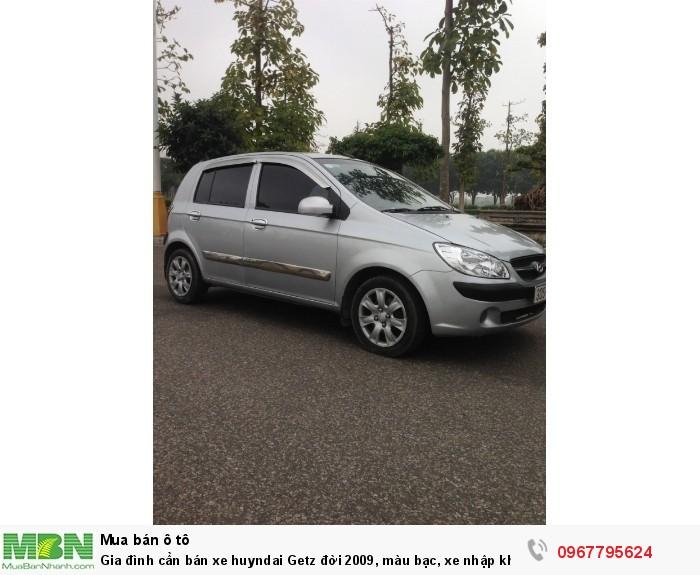 Gia đình cần bán xe Hyundai Getz đời 2009, màu bạc, xe nhập khẩu Hàn Quốc 9