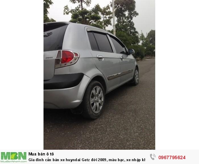 Gia đình cần bán xe Hyundai Getz đời 2009, màu bạc, xe nhập khẩu Hàn Quốc 10