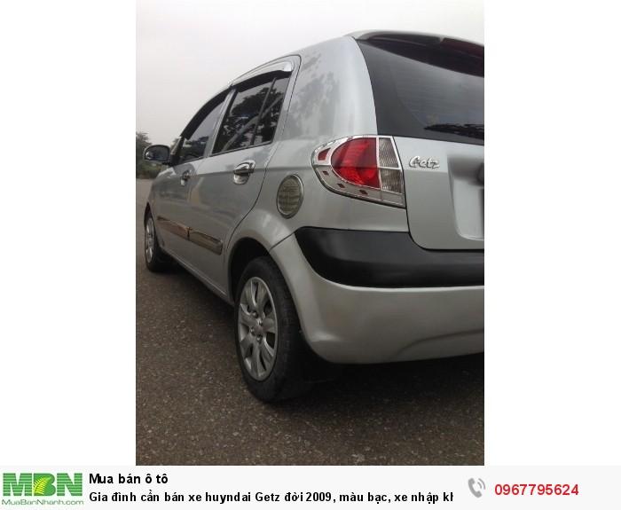 Gia đình cần bán xe Hyundai Getz đời 2009, màu bạc, xe nhập khẩu Hàn Quốc 11