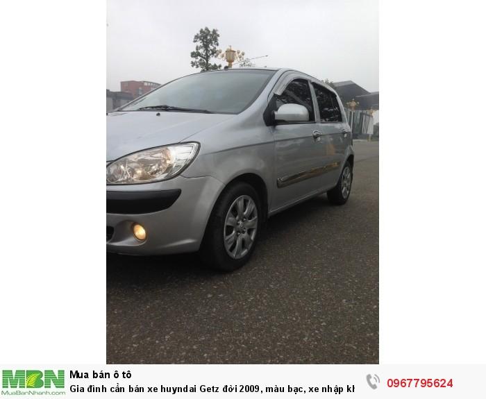 Gia đình cần bán xe Hyundai Getz đời 2009, màu bạc, xe nhập khẩu Hàn Quốc 12