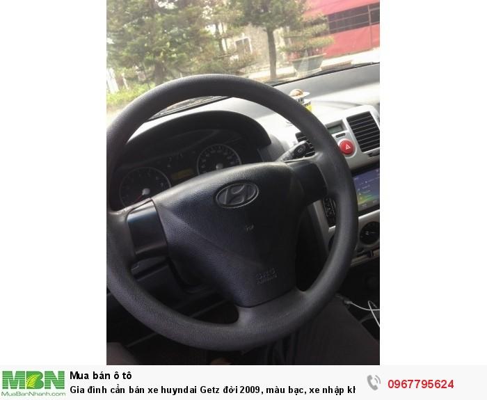 Gia đình cần bán xe Hyundai Getz đời 2009, màu bạc, xe nhập khẩu Hàn Quốc 17