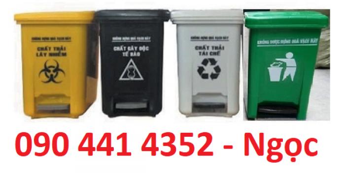 Thùng rác y tế chân đạp 15 lít, giá thùng đựng rác thải y tế 20 lít, thùng rác y tế