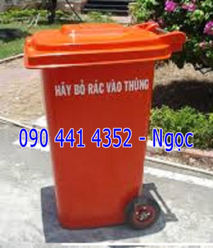 Thùng rác công nghiệp 240 lít, thùng rác đạp chân 60 lít, thùng rác công cộng