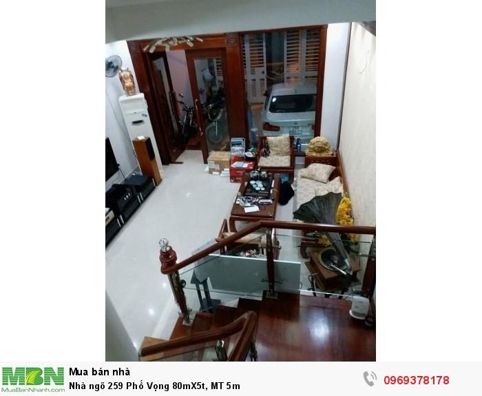 Nhà ngõ 259 Phố Vọng 80mX5t, MT 5m