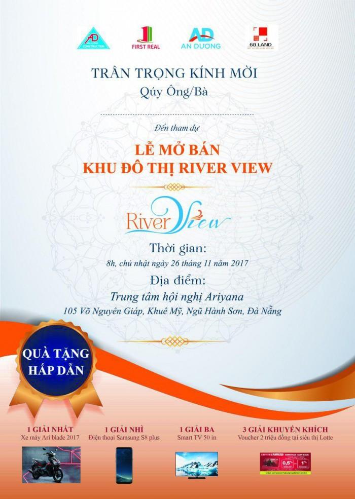 Mở bán River view, mua ngay trong ngày mở bán để được CK cao, liên hệ nhận thư mời.