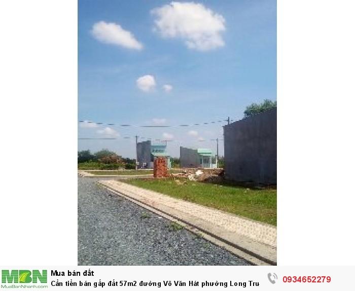 Cần tiền bán gấp đất  57m2 đường Võ Văn Hát phường Long Trường quận 9