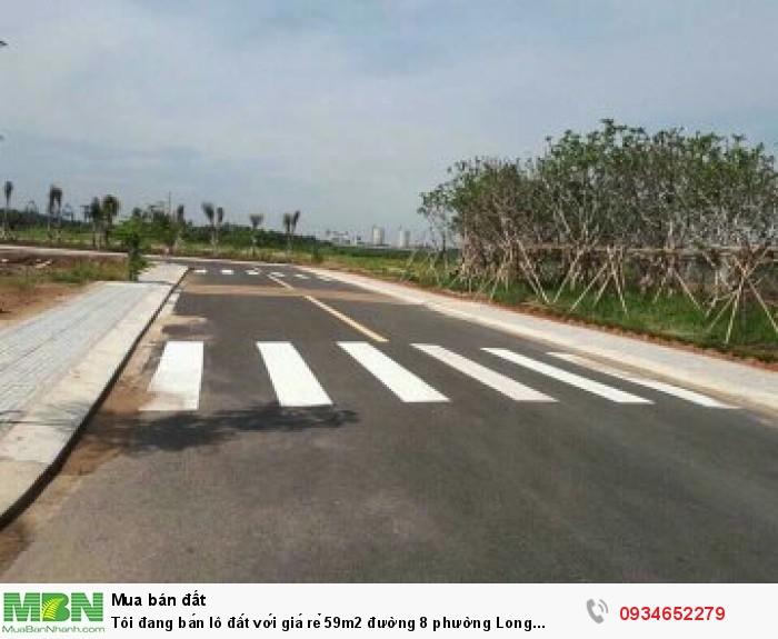 Tôi đang bán lô đất với giá rẻ 59m2 đường 8 phường Long Phước