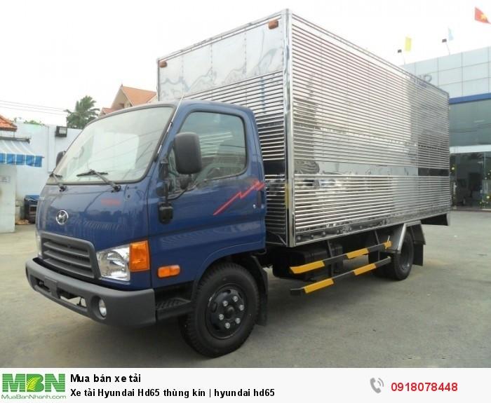 Xe tải Hyundai Hd65 thùng kín   hyundai hd65