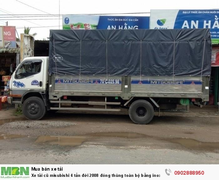 Xe tải cũ misubishi 4 tấn đời 2008 đóng thùng toàn bộ bằng inox