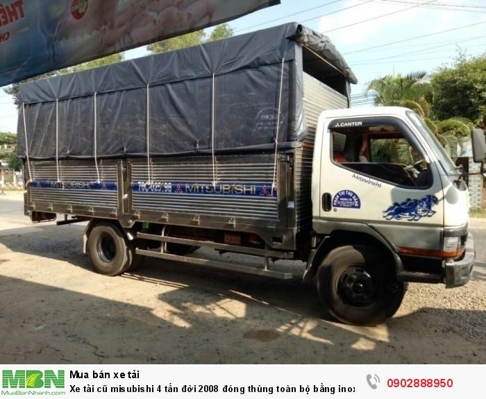 Xe tải cũ misubishi 4 tấn đời 2008 đóng thùng toàn bộ bằng inox 2