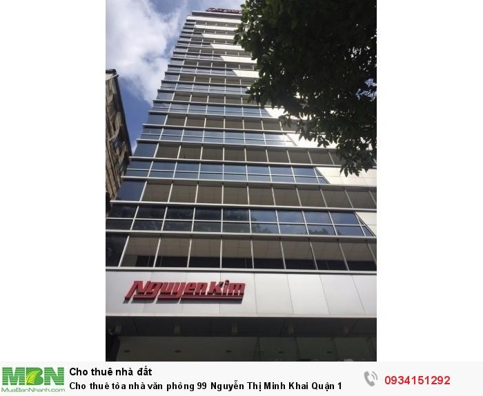 Cho thuê tòa nhà văn phòng 99 Nguyễn Thị Minh Khai Quận 1