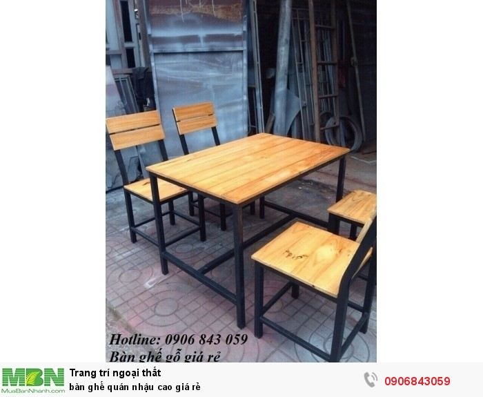 bàn ghế quán nhậu cao giá rẻ0
