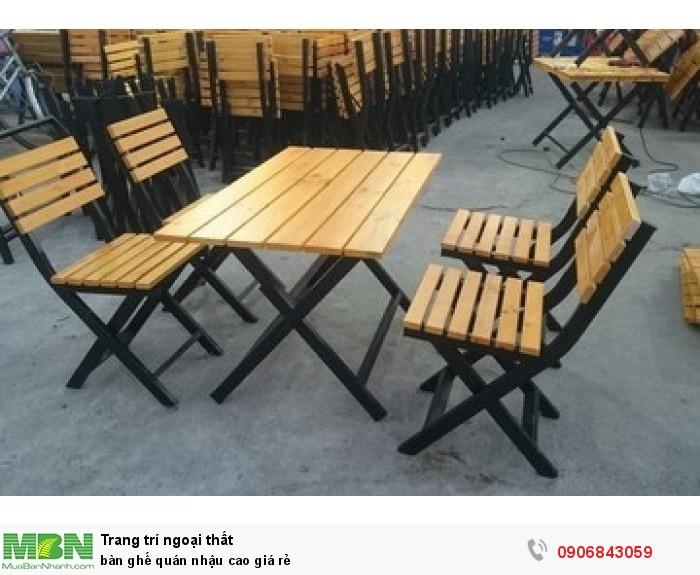 bàn ghế quán nhậu cao giá rẻ3