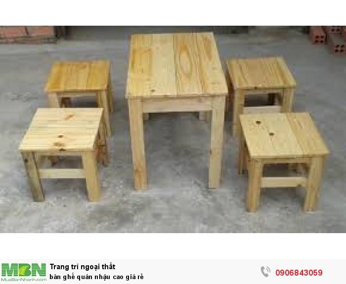 bàn ghế quán nhậu cao giá rẻ5