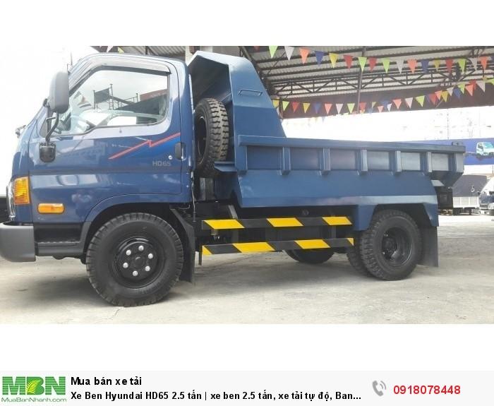 Xe Ben Hyundai HD65 2.5 tấn | xe ben 2.5 tấn, xe tải tự độ, Ban ngày