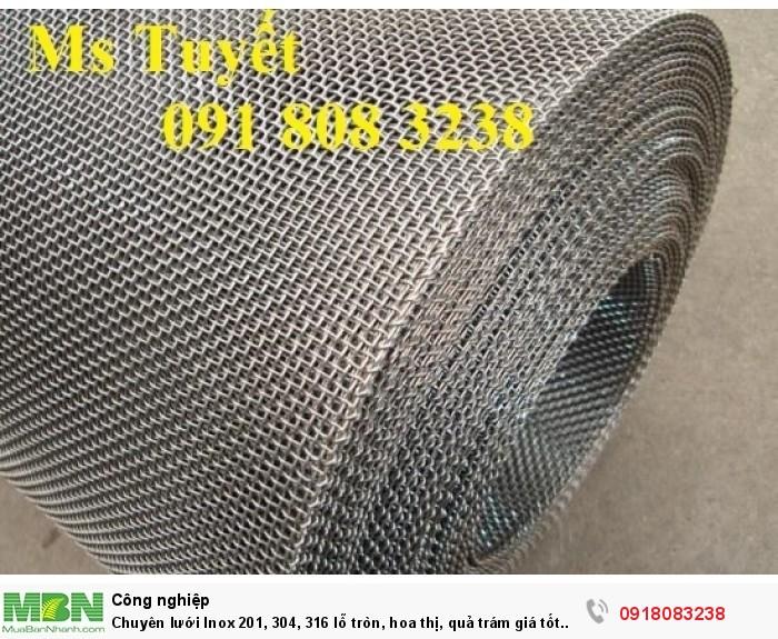 Chuyên lưới Inox 201, 304, 316 lỗ tròn, hoa thị, quả trám giá tốt nhất tại Hà Nội0