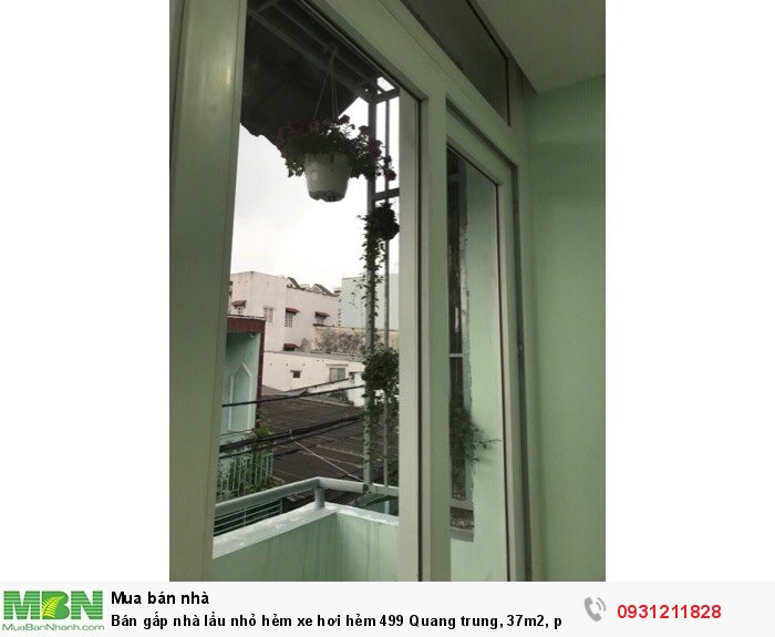 Bán gấp nhà lầu nhỏ hẻm xe hơi hẻm 499 Quang trung, 37m2, p 10, GV