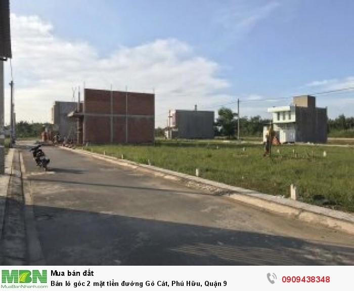 Bán lô góc 2 mặt tiền đường Gò Cát, Phú Hữu, Quận 9