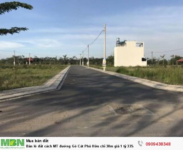 Bán lô đất cách MT đường Gò Cát Phú Hữu chỉ 30m giá 1 tỷ 335/51m