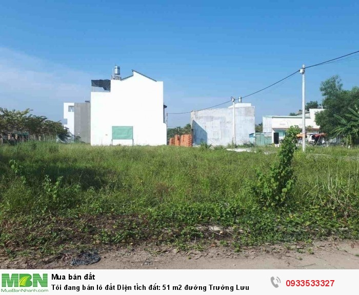 Tôi đang bán lô đất Diện tích đất: 51 m2 đường Trường Lưu