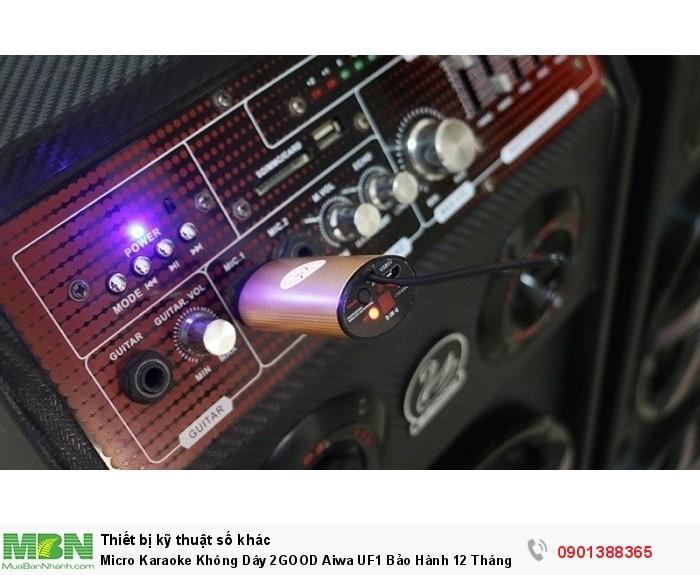 Bộ Microphone không dây 2GOOD Aiwa UF1 được thiết kế để hạn chế tối đa hiện...