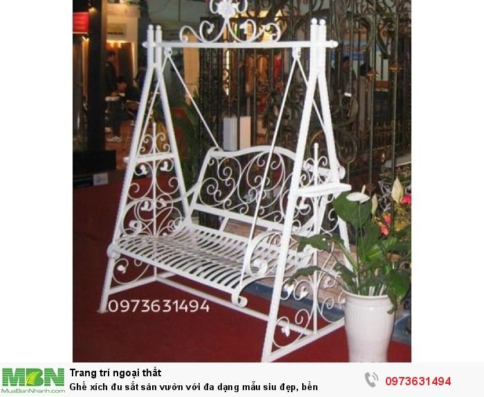 Ghế xích đu sắt sân vườn với đa dạng mẫu siêu đẹp, bền0