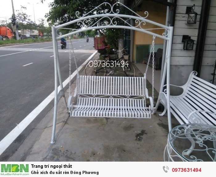 Ghế xích đu sắt rèn Đông Phương