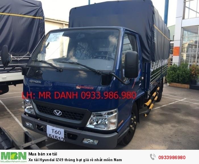 Xe tải Hyundai IZ49 thùng bạt giá rẻ nhất miền Nam