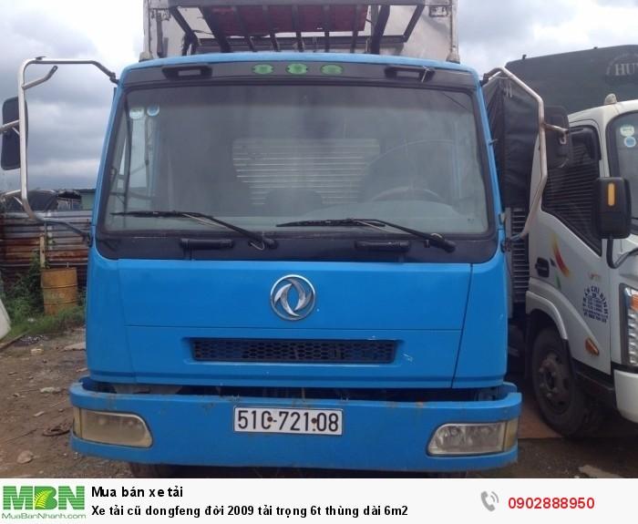 Xe tải cũ dongfeng đời 2009 tải trọng 6t thùng dài 6m2 0