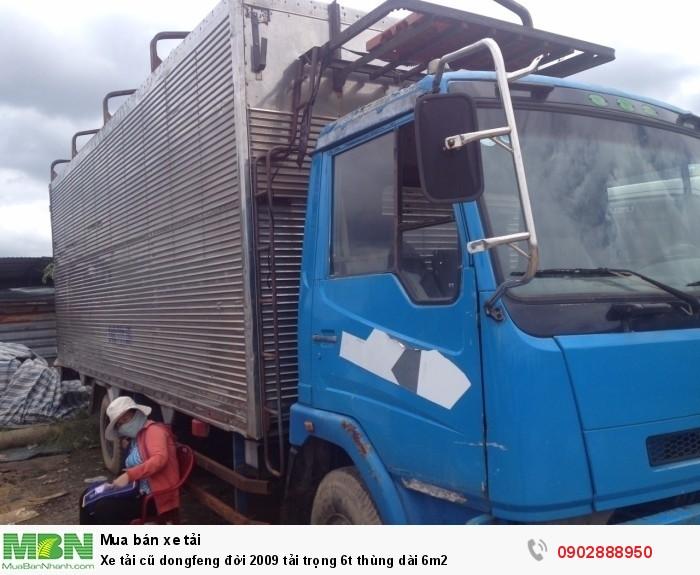 Xe tải cũ dongfeng đời 2009 tải trọng 6t thùng dài 6m2 1